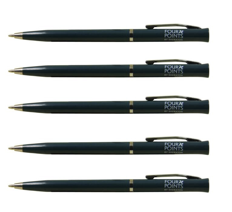 four point hotel writing plastic ballpoint pen