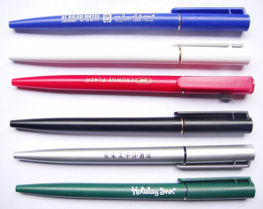 crown plaza hotel use plastic ball pen