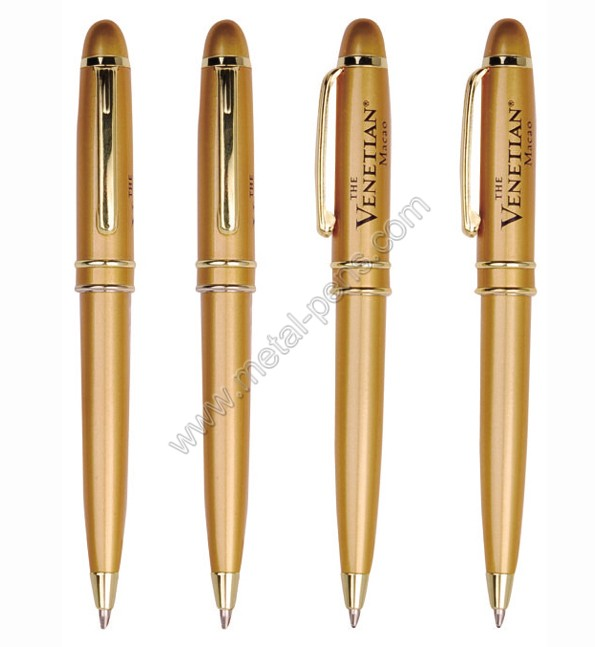 Short mini metal ball pen