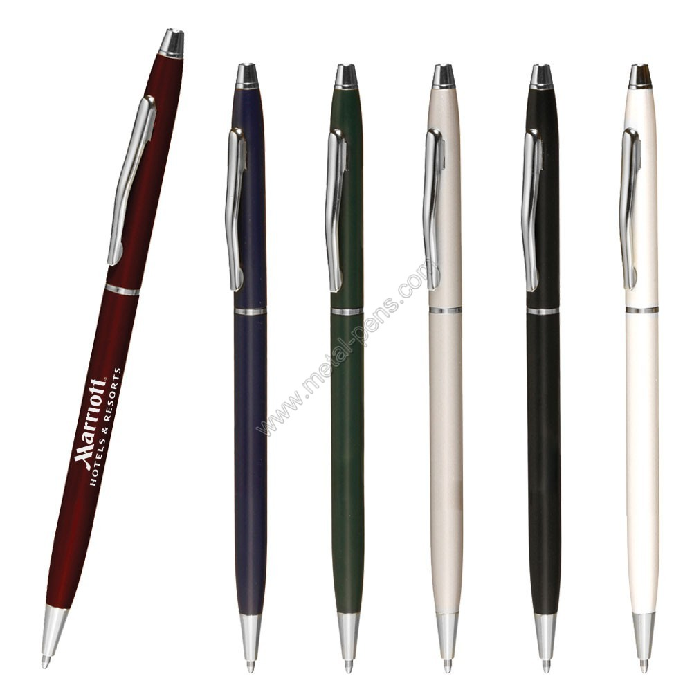 sharp classical slim cross metal pen