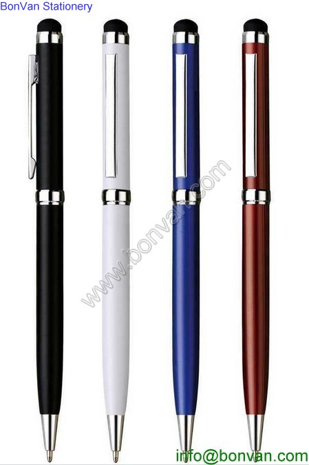 High quality luxurious black metal stylus pen metal roller pen free ink roller ball pen