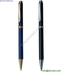Customized Colorful Ballpoint Pen Type Metal Triangle Pen, twist ballpoint pen from China