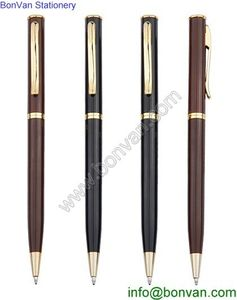Office supply metal engraved pen assorted color metal clip ball pen customized from China