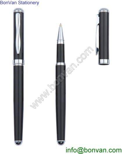 high quality luxurious black metal stylus pen metal roller pen free